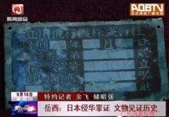 岳西发现抗日文物:飞机铝标牌及日本三八大盖等
